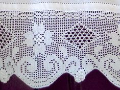 White handmade curtain with lace -18430-18429-