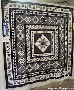 Love this black and white quilt! It was seen on the Quilts from the Heart of Berks quilt guild show in 2010