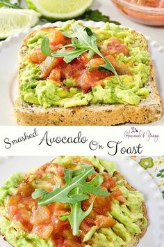 Smashed Avocado on Toast is great for any meal of the day. Easy and delicious. #homemadeandyummy #avocadorecipes #avocadotoast #healthyeating #avocadoontoast | homemadeandyummy.com