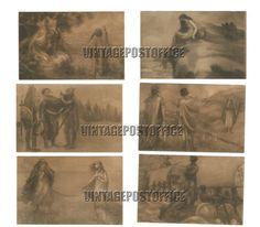 Gudrun 6 vintage postcards handwriting door vintagepostoffice