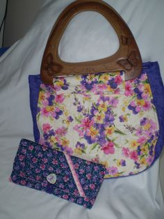 Purse I made using Spring Fling pattern from e-patterncentral.com. I purchased a handle and made a coordinating wallet.