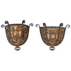 1 of 2 Mica Wall Sconces, c. 1920's   From a unique collection of antique and modern wall lights and sconces at https://www.1stdibs.com/furniture/lighting/sconces-wall-lights/