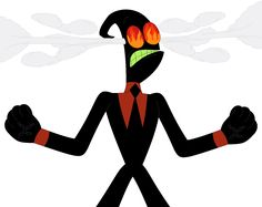 Nergal Vector Angry Steaming