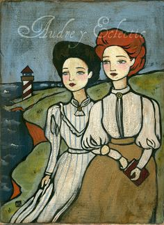 PRINT of Anne and Diana, Anne of Green Gables.  via Etsy.