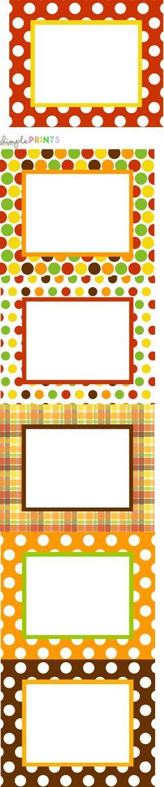 autre forme pour cette planches d'étiquettes, elles aussi disponibles dans le kit créé pour Thanksgiving par  Dimple Prints...