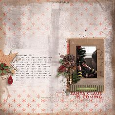 A Digital Scrapbooking Page by Rachel Jefferies Designs using products created by On A Whimsical Adventure. Click through to find a list of products used to create this page. Cosy Christmas, Digital Scrapbooking, Whimsical, Digital Art, Adventure, Create, Design, Products