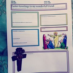 Easter Themed Letter Writing Template for @Compassion International International sponsors to use when writing their sponsored children via @Emily at www.elephantgrace.com