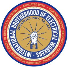 Brotherhood of Electrical Workers — Union Seal Electrician Logo, Journeyman Lineman, Local Union, Union Logo, Power Lineman, Circular Logo, Workers Union, Labor Union, Dollar
