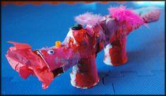 Paper Mache Dragon Craft Project