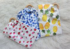 Baby Teether Lovey Watercolor Pineapple Modern Chic Baby Lap Blanket, Stroller Blanket, Baby Rag Quilts, Fluffy Blankets, Baby Teethers, Chic Baby, Car Seats, Pineapple, Coin Purse