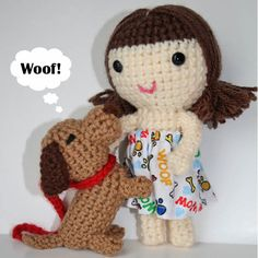 Doll with her dog by my sweet dolls, via Flickr