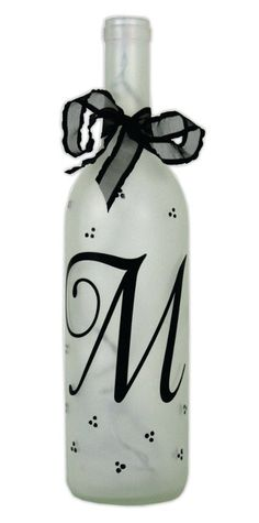 Monogram Light Bottle. A project sheet for this project can be found here: http://www.craftsdirect.com/default.aspx?PageID=311=961