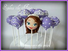 Sophia the First cake pops by Let Them Eat Cake Pops ~ www.LetsEatCakePops.com
