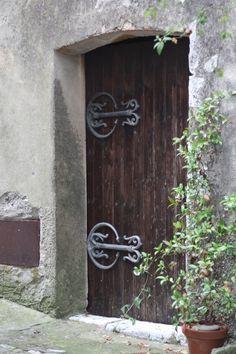 medieval city door in Provence