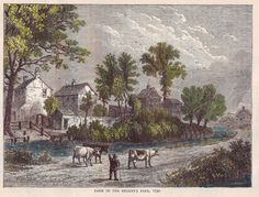 The Sylver Zone is pleased to offer:  Farm in the Regents Park, 1750, C1890 book print. - Hand coloured  This 8.5 x 6 illustration of the Farm in the