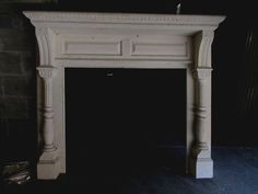 ~ CARVED ANTIQUE OAK FIREPLACE MANTEL ~ 42 OPENING ~ ARCHITECTURAL SALVAGE ~