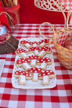 Toadstool Sugar Cookies from a Little Red Riding Hood Picnic Party via Kara's Party Ideas | KarasPartyIdeas.com (32)