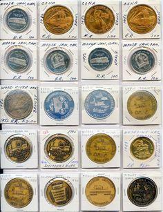 20 Medal Coin Railroad CSNA MooseJaw Canada WoodRiver MN PA1970 1982 1983 Etc