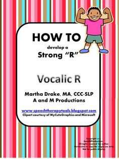Speech Therapy Tools: HOW TO Series