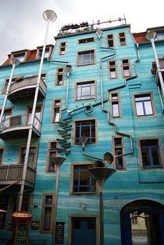 Musical waterpipes, Dresden Neustadt, Germany
