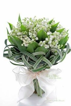 Lily of the Valley with Bouquet Collar that would be wonderful around any small bouquet