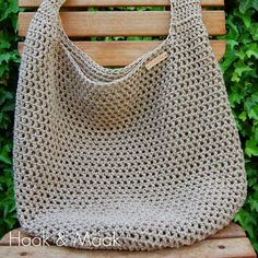 Haak & Maak: Toffe tas - Lets Crochet Crochet Market Bag, Crochet Tote, Crochet Handbags, Crochet Purses, Diy Crochet, Crochet Crafts, Crochet Hooks, Crochet Projects, Crotchet Bags