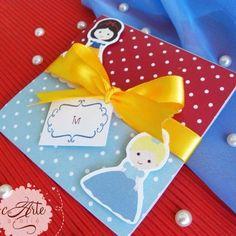 Convite Janela Quadrado Princesas