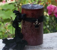 Witchcrafts Artisan Alchemy - WITCH QUEEN Black Triple Goddess Crown Pillar Candle,  (http://www.witchcraftsartisanalchemy.com/witch-queen-black-triple-goddess-crown-pillar-candle/)