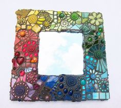 Check out our mosaic selection for the very best in unique or custom, handmade pieces from our shops. Mirror Mosaic, Mosaic Art, Mosaic Tiles, Mosaic Crafts, Mosaic Projects, Stone Mosaic, Mosaic Glass, Ceramic Painting, Stone Painting