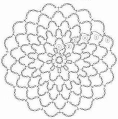 World crochet: Motive 12 Crochet Mandala Pattern, Crochet Square Patterns, Crochet Motifs, Crochet Circles, Crochet Diagram, Crochet Chart, Crochet Patterns Amigurumi, Crochet Designs, Crochet Doilies