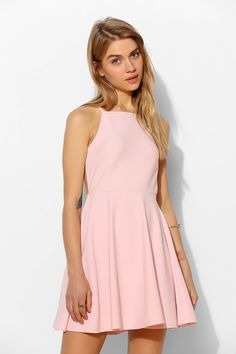 Oh My Love Strappy-Back Skater Dress - Urban Outfitters