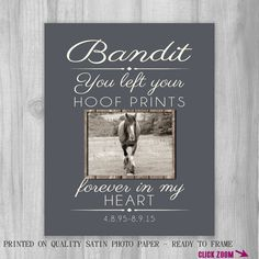 Pet Memorial Gift Pet Loss Gift Horse by PrintsbyChristine on Etsy
