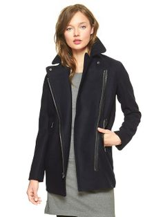 Love the leather accents on this jacket. | @Gap | $164.00
