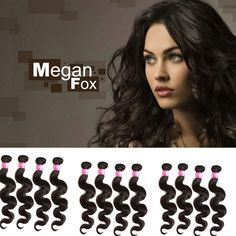 "US New MALAYSIAN Virgin Hair Extensions Natural Color1 Pcs 12""-20"" Body Wave 6A  #WIGISS #HairExtension"