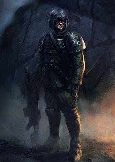 Imperial Guard, Salvador Trakal on ArtStation at https://www.artstation.com/artwork/1xKBG