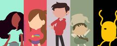 Stevens Universe, Gravity Falls, Star vs. FOE, Over the Garden Wall, and Adventure Time