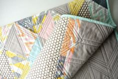 Flying Geese quilt- nice modern triangle pattern