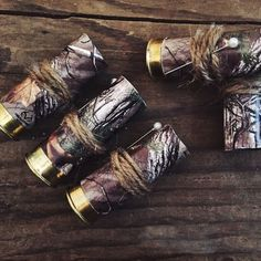 Camouflage Shotgun Shell Boutonniere // Country Wedding // Redneck Camouflage Shotgun Shell Boutonniere // Country by AdelynElaines Camo Wedding Decorations, Wedding Themes, Diy Wedding, Rustic Wedding, Dream Wedding, Wedding Ideas, Wedding Stuff, Wedding Country, Rustic Country Wedding Decorations