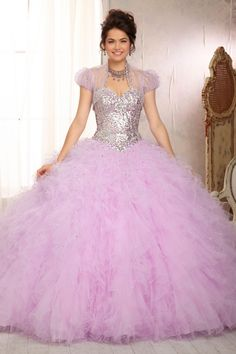 Shop 2014 New Style Quinceanera Dresses Ruffled Tulle Ball Gown Skirt Sweetheart Online affordable for each occasion. Latest design party dresses and gowns on sale for fashion women and girls.