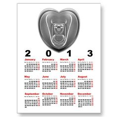 2013 Canned Love Postcard Calendar Template for you at www.zazzle.com/superdumb
