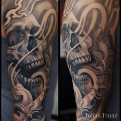 Intriguing  Skull Tattoo