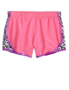 Pattern Insert Running Shorts