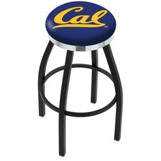 Cal Golden Bears Swivel Stool Black w/ Chrome Accent