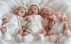 Starly, Skyly and Hevinly (silicone babies by Eva Helland)