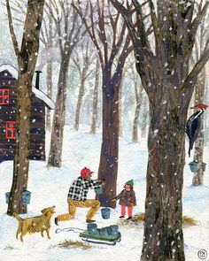 These charmingly nostalgic illustrations are the work of illustrator Phoebe Wahl. The artist had an unconventional childhood growing up in Washington state Winter Illustration, Christmas Illustration, Children's Book Illustration, Illustrations, Light In, Winter Art, Naive Art, Whimsical Art, Christmas Art
