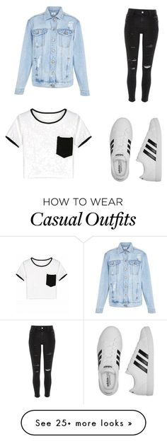 """Casual"" by ellakcrawley on Polyvore featuring New Look, River Island and adidas"