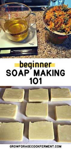 How to Make Soap For Beginners + Calendula Soap Recipe Learn how to make your own homemade all natural soap using this easy DIY recipe and tutorial. I'll take you through the process step by step. Let's learn how to make soap even if you're a beginner! Soap Making Recipes, Homemade Soap Recipes, Homemade Gifts, Soap Maker, Easy Diy Gifts, Cold Process Soap, Recipe For 4, Home Made Soap, Making Ideas