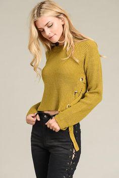 Romantic Long Sleeve Sweater Marina Laswick, Opaque Tights, Line Jackets, Long Sleeve Sweater, Turtle Neck, Lace Up, Romantic, Pairs, Pullover