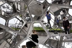 NY's Met Museum visitors climb to cloud nine, via rooftop art by Argentinian who likes bubbles