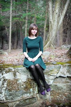 IMG_3759b | Sara | Flickr Pantyhose Outfits, Black Pantyhose, Black Tights, Nylons, Lehenga, Mod Girl, Patterned Tights, Fashion Tights, Asos Dress